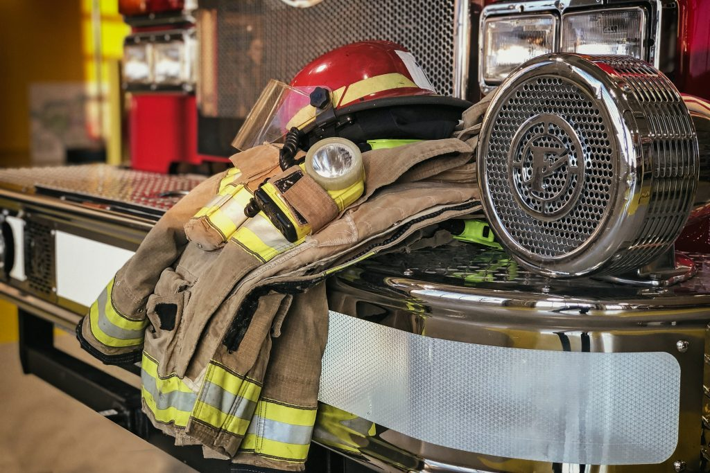 firefighter protection clothe in the fire station